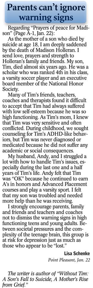 January 22, 2014  Letter to the Editor, Bergen Record